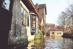 Brugge canal. Brugge house on the canal Royalty Free Stock Images