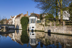 A Brugge Canal and Houses Royalty Free Stock Image