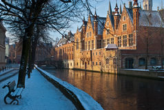 Brugge canal2 Royalty-vrije Stock Afbeelding