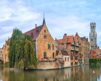 Brugge canals at sunrise Stock Photos