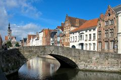 Brugge, city in Belgium Royalty Free Stock Photos