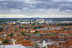 Brugge City Panorama Royalty Free Stock Photos