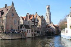 Brugge in Daling royalty-vrije stock afbeeldingen