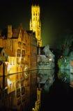 Brugge in de nacht Royalty-vrije Stock Foto's