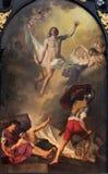 Brugge - de verf van Verrijzenis door J Suvee (1743-1807) in st Walburga kerk Royalty-vrije Stock Afbeeldingen