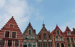 Brugge domy Zdjęcie Stock