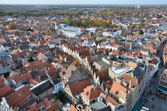 Brugge - Grote Markt birds eye view Royalty Free Stock Images