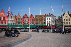Brugge. Grote Markt - Trade Square Royalty Free Stock Image
