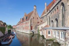 Brugge - helgon John Hospital royaltyfria foton