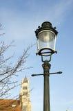 brugge historisk lampgata Royaltyfri Fotografi