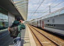 Brugge järnvägsstation royaltyfri fotografi