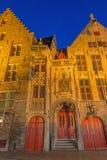 Brugge - Jan van Eyck-geboortehuis Royalty-vrije Stock Foto's