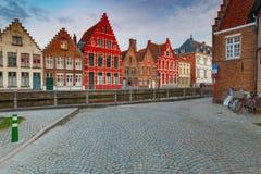 Brugge Kanaal Spiegel Rei royalty-vrije stock afbeeldingen