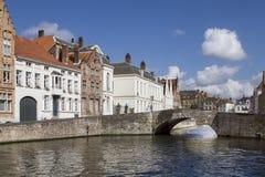 Brugge kanal Fotografering för Bildbyråer