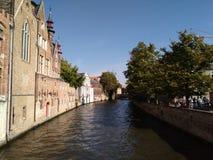Brugge kanal Arkivfoton
