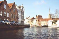 Brugge kanal arkivfoto