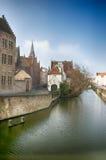 Brugge kanal royaltyfri fotografi