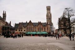Brugge marknadsplats royaltyfria bilder