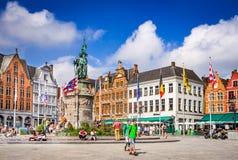Brugge, Markt, het gebied België van Vlaanderen stock afbeeldingen