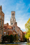 Brugge, middeleeuwse stad Stock Foto's