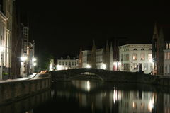 Brugge by night Stock Photography