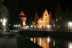 Brugge by night Stock Photo