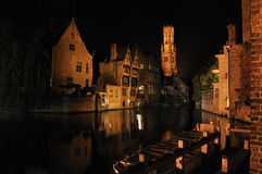 Brugge in night Royalty Free Stock Images