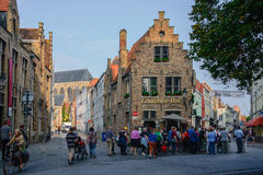 Brugge Old Merchant Houses Royalty Free Stock Images