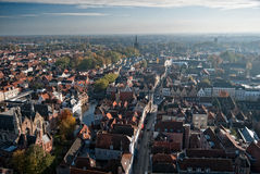 Brugge Panorama 1. A panoramic view from above on the city of Bruges, Belgium Royalty Free Stock Photos