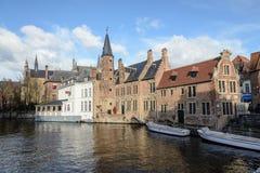 Brugge, stad van de provincie van West-Vlaanderen, België stock afbeelding