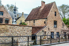 Brugge street #1. Some street in Medieval Brugge stock photography
