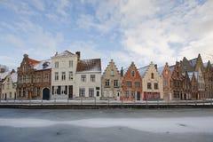 Brugge streetscene Stock Afbeelding