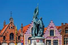 Brugge Targowy kwadrat Zdjęcia Royalty Free