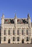 Brugge townhall Stock Afbeeldingen