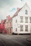 Brugge zonder toeristen Stock Afbeeldingen