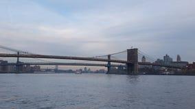 Bruggen in de Stad van New York Stock Afbeeldingen