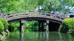 Bruggen en rivier Stock Foto's