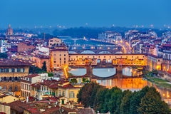 Bruggen in Florence Stock Fotografie