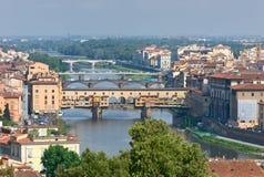 Bruggen in Florence, Italië stock foto's