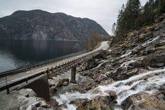 Bruggen in Noorwegen Royalty-vrije Stock Foto's
