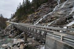 Bruggen in Noorwegen Royalty-vrije Stock Afbeeldingen