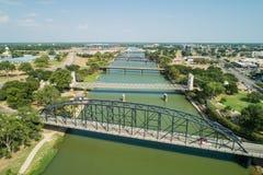 Bruggen over de Brazos-Rivier Waco Texas royalty-vrije stock foto's