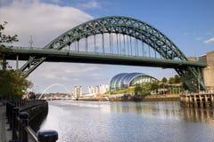 Bruggen over de rivier de Tyne, Newcastle, Engeland Royalty-vrije Stock Foto's