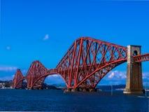 Bruggen van de Spoorwegbrug van Schotland - van Edinburgh stock foto's