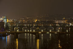 Bruggen van Praag, Tsjecho-Slowakije Royalty-vrije Stock Fotografie