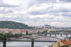 Bruggen van Praag, Tsjecho-Slowakije Royalty-vrije Stock Afbeelding