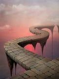 Bruggen, wegfantasie vector illustratie