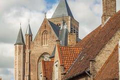 Brugges byggnad och arkitektur arkivfoton