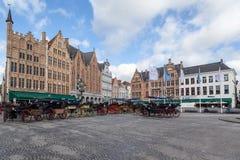Brugges Markt比利时 库存照片