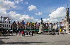 Brugges Markt Бельгия Стоковое Изображение RF